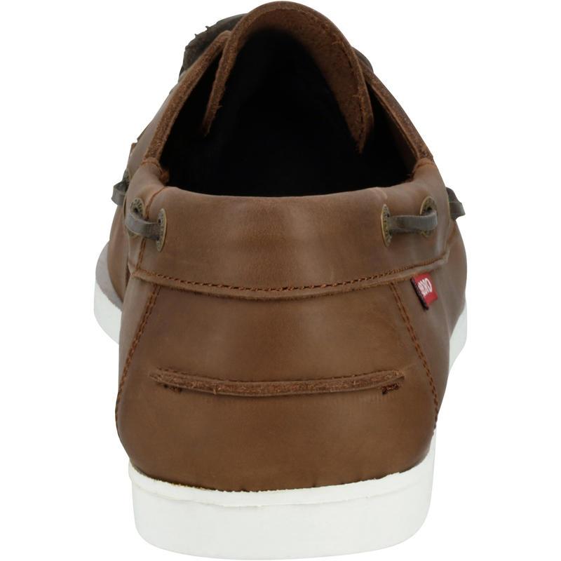 Zapatos náuticos de cuero para hombre CR500 café