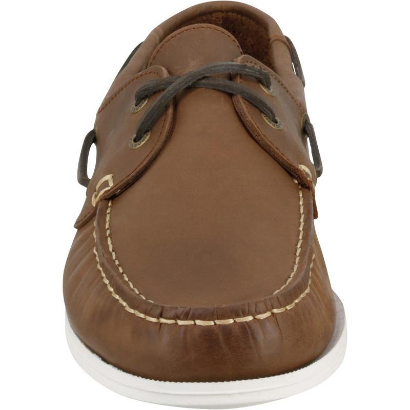 Chaussures bateau cuir homme CR500 marron
