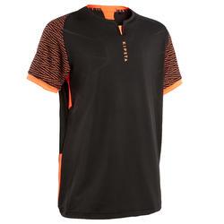 Voetbalshirt voor kinderen CLR zwart en oranje