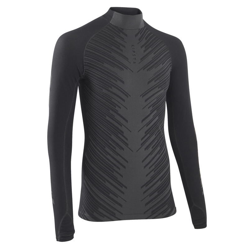 Camiseta Térmica Fútbol Kipsta Keepwarm 900 Adulto Gris Oscuro