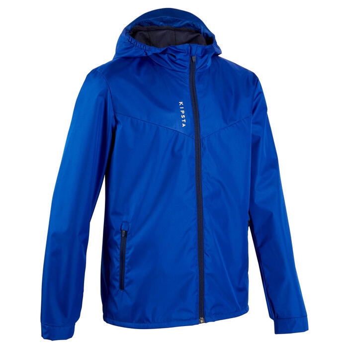 Regenjas voor voetbal kinderen T500 blauw