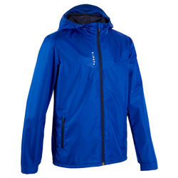 兒童款防水足球外套T500 - 藍色