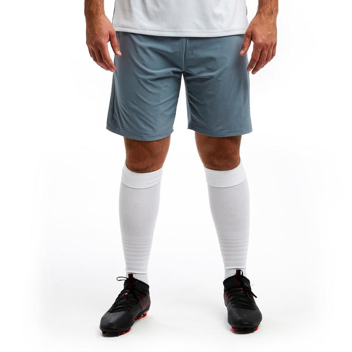 Short de football adulte 3 en 1 TRAXIUM gris