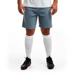 Voetbalshort voor volwassenen 3-in-1 TRAXIUM grijs
