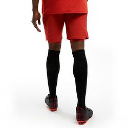 Calções de futebol 3 em 1 Adulto Vermelho