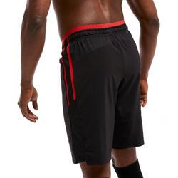 Calções de Futebol 3 em 1 TRAXIUM Adulto Preto e Vermelho