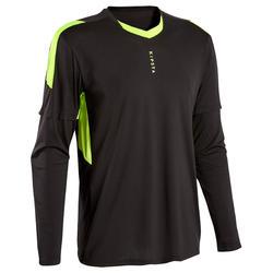 Camisola de Guarda-redes Futebol Adulto F500 Preto