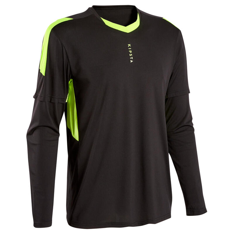 Camiseta de portero de fútbol adulto F500 negro