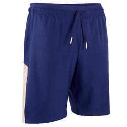SHORT DE FOOTBALL FILLE F500 BLEU ET ROSE