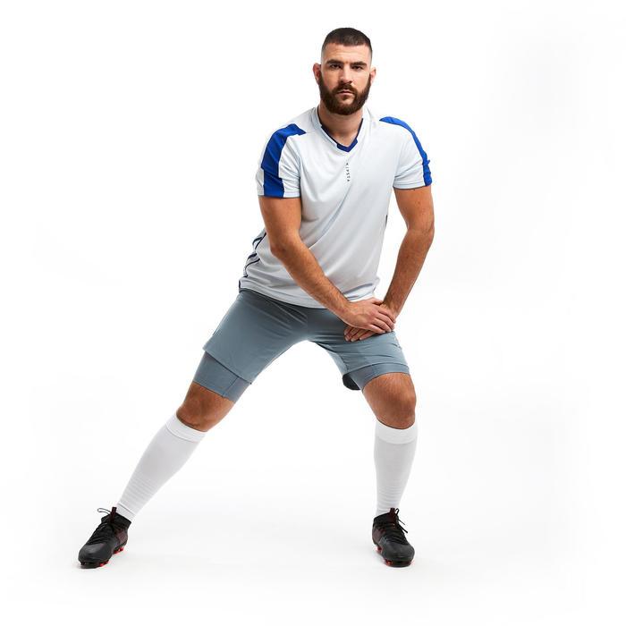 Calções de Futebol 3 em 1 TRAXIUM Adulto Cinza