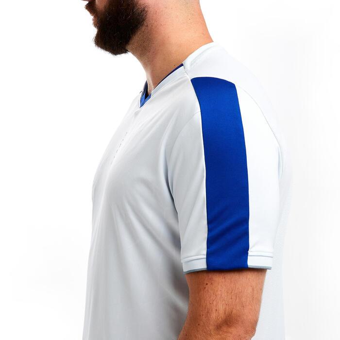 Maillot de football adulte TRAXIUM gris clair et bleu