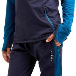 Pantalon d'entraînement de football enfant TP 500 bleu pétrole et marine