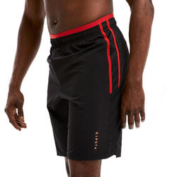 Short de football adulte 3 en 1 TRAXIUM noir et rouge