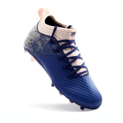 CHAUSSURE DE FOOTBALL FILLE AGILITY 900 BLEUE / ROSE
