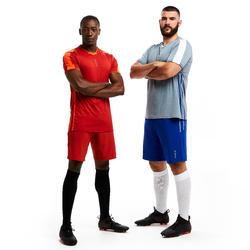 Voetbalshort voor volwassenen 3-in-1 TRAXIUM blauw