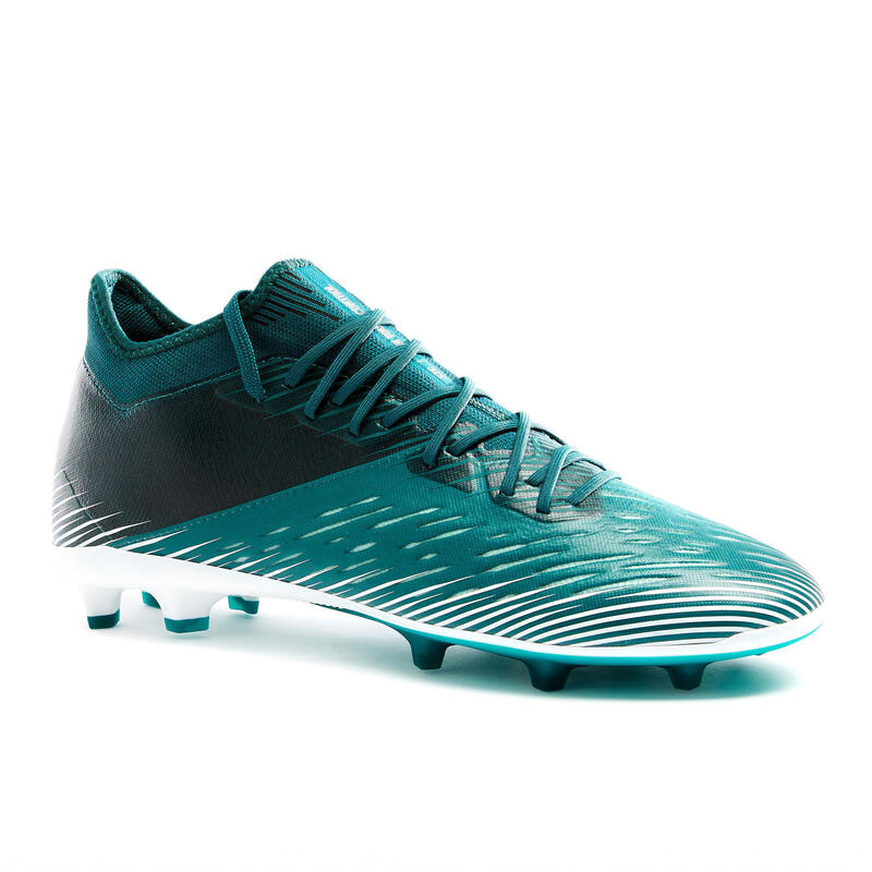 Chaussure de football adulte terrains secs CLR FG blanc et vert