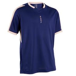 Voetbalshirt met korte mouwen voor meisjes F500 blauw