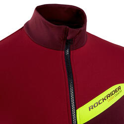 MAILLOT VTT XC MANCHES LONGUES ROUGE COUPE PRO FIT
