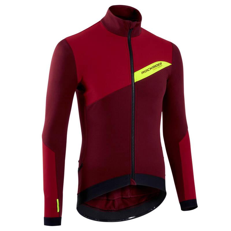 PÁNSKÉ OBLEČENÍ NA MTB DO CHLADNĚJŠÍHO POČASÍ Cyklistika - PÁNSKÝ DRES PRO XC ČERVENÝ  ROCKRIDER - Cyklistické oblečení