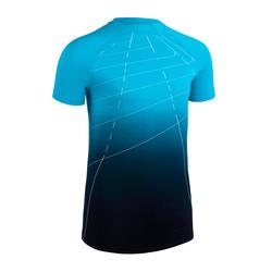 Atletiekshirt voor kinderen comfort AT 300 blauw met kleurverloop