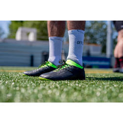Chaussettes de rugby antidérapantes R500 Mid Blanche