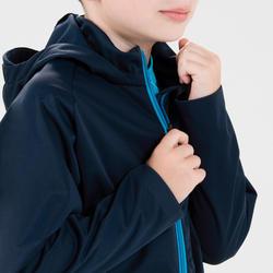 兒童款保暖田徑外套AT 500海軍藍