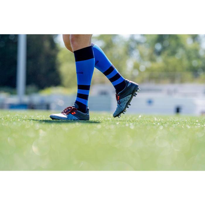 Chaussettes hautes de rugby R500 bleu