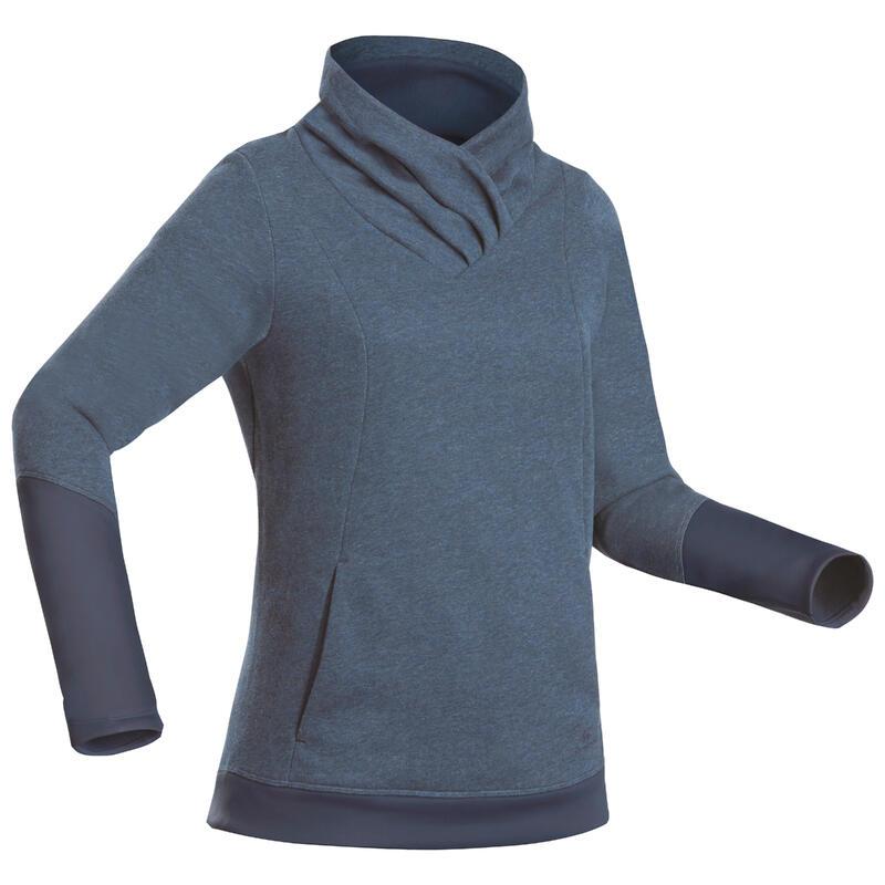 Camisola de Caminhada - NH500 Mulher - Azul marinho