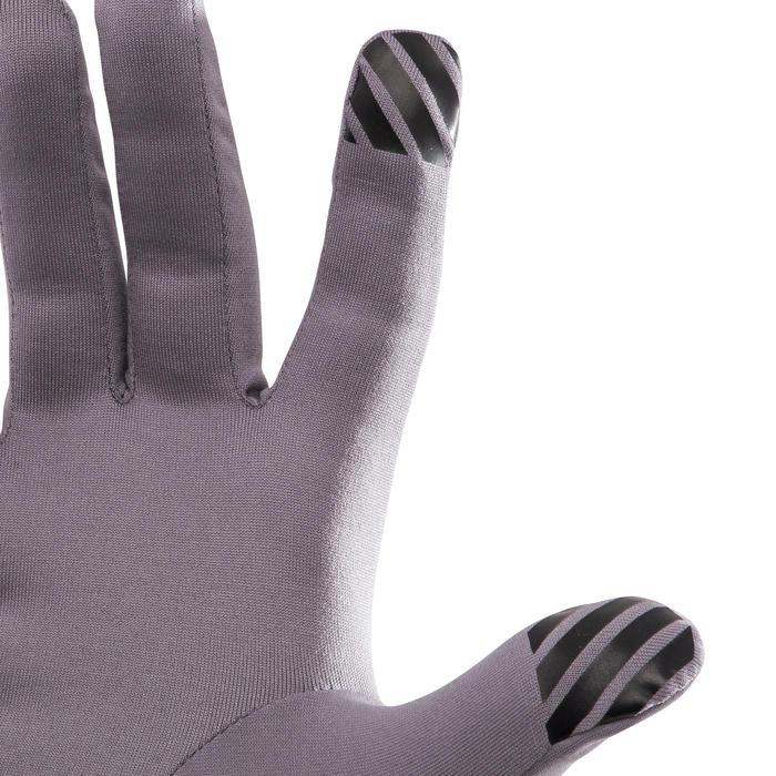 Tactiele handschoenen voor hardlopen grijs/paars