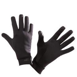跑步觸控式螢幕手套 - 黑色