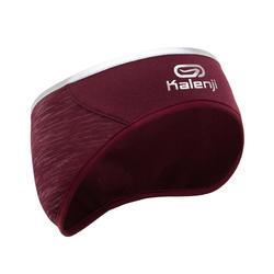 Warme hoofdband voor hardlopen Run Warm+ donker bordeaux
