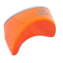 Hoofdband voor hardlopen Run Warm+ oranje/fluokoraal