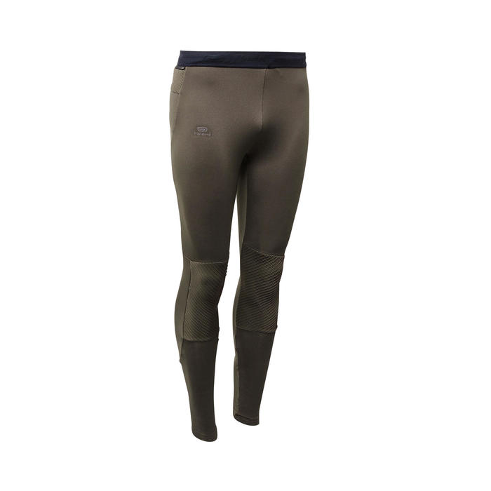 COLLANT RUNNING RUN WARM + KAKI FONCE HOMME