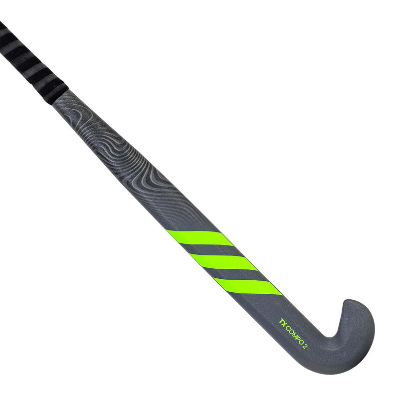 Stick de hockey adulte confirmé low bow 50% carbone TX24Compo2 gris vert