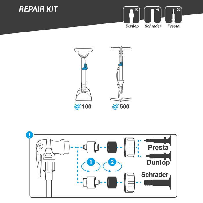 Reparatieset voor pompkop van B'TWIN 100 en 500