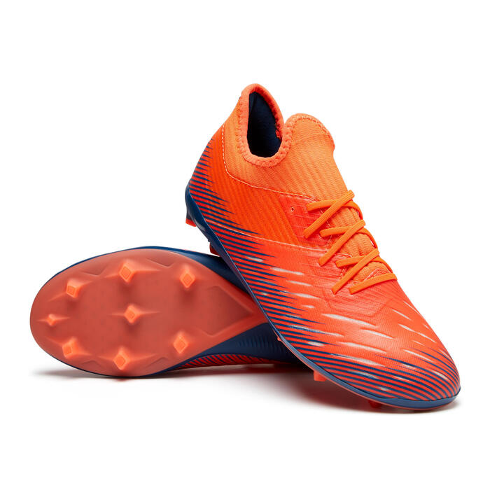 Fussballschuhe Nocken CLR 900 FG Kinder orange