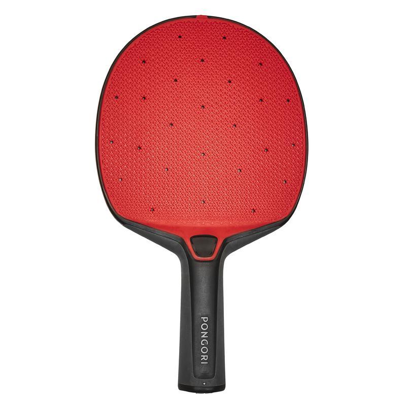 Table Tennis Durable Bat PPR 130 O - Black/Red