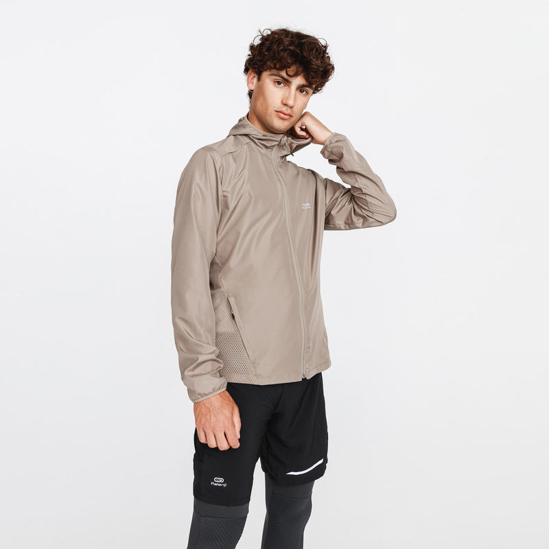MEN'S RUN WIND WINDPROOF JACKET - SANDY BEIGE