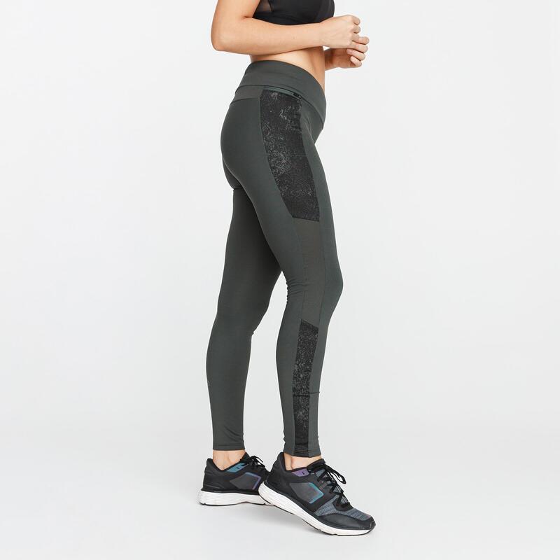 Leggings Running Run Warm+ Mujer Caqui Cálidos