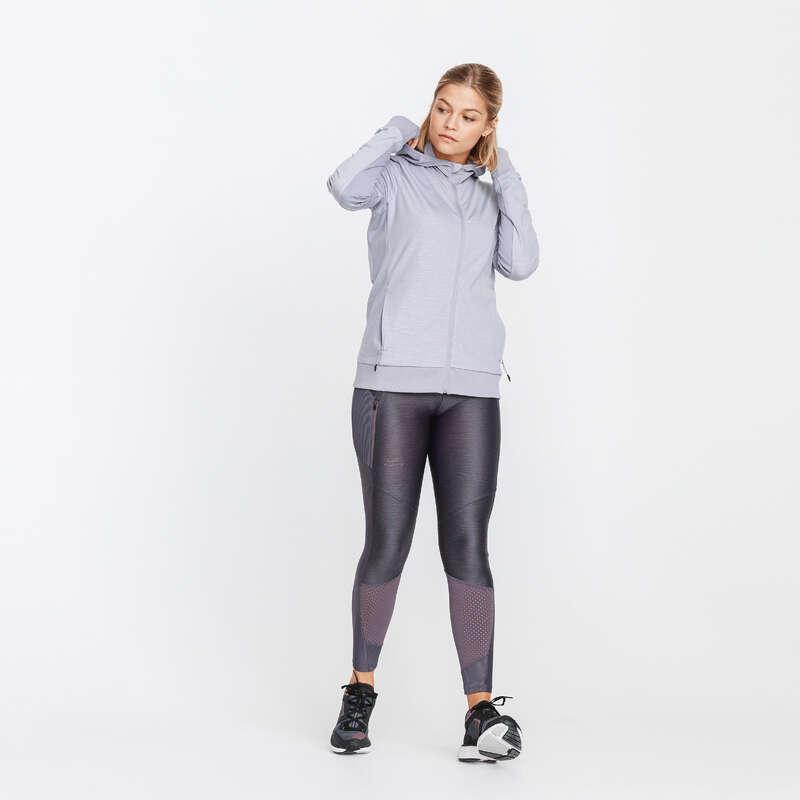 Női őszi-téli ruházat - rendszeres Futás - Női kapucnis futófelső KALENJI - Futás