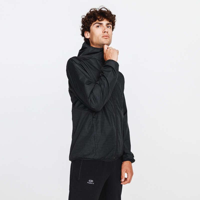 PÁNSKÉ OBLEČENÍ NA JOGGING, DO DEŠTĚ Běh - BĚŽECKÁ BUNDA RUN RAIN  KALENJI - Běžecké oblečení