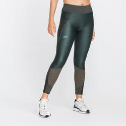 COLLANT RUNNING RUN DRY + FEEL KAKI FONCE FEMME