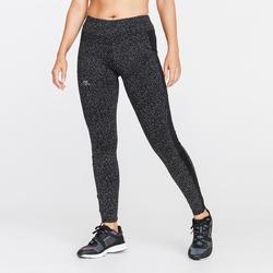 Warme hardlooptight voor dames Run Warm+ Night zwart