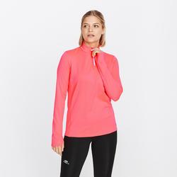Sieviešu silts skriešanas T krekls ar garām piedurknēm un rāvējslēdzēju