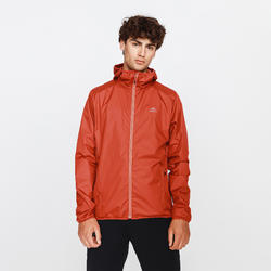 VESTE RUNNING RUN RAIN ROUGE BRIQUE HOMME