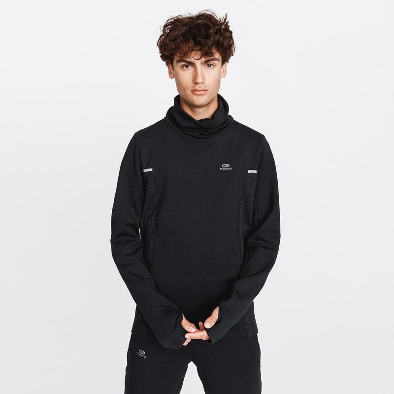 Erkek Siyah Sweatshirt / Koşu - KALENJI WARM