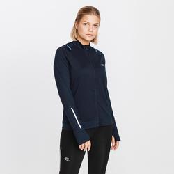 Laufjacke Run Dry Damen schwarz/blau