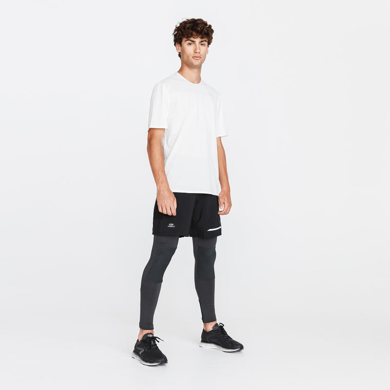 COLLANT RUNNING RUN WARM + GRIS CARBONE HOMME