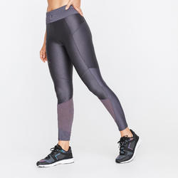 WOMEN'S RUNNING TIGHTS RUN DRY+ FEEL - PURPLE GREY