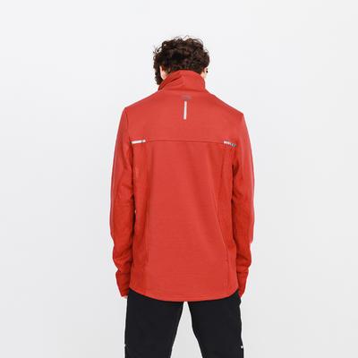סוטשירט ריצה דגם RUN WARM + לגברים - אדום לבנים